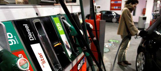 Una gasolinera en Madrid.