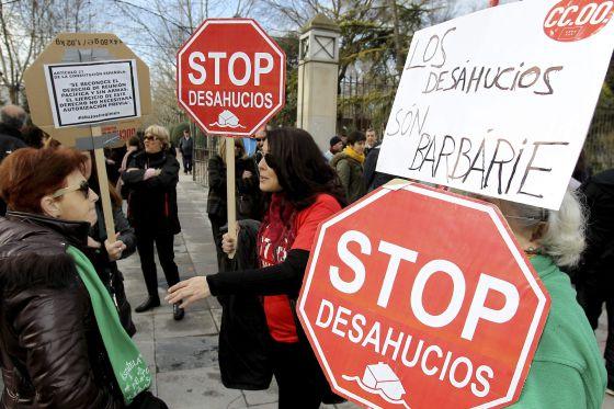 Manifestación de Stop Desahucios en Ciudad Real.