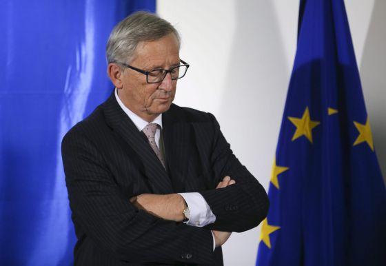 El presidente Jean-Claude Juncker, en la sede de la Comisión en Bruselas.