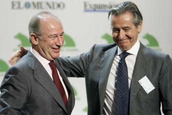 Los expresidentes de caja Madrid, Rodrigo Rato y Miguel Blesa