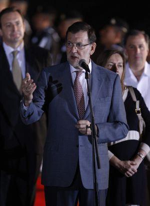 El presidente del Gobierno español, Mariano Rajoy, a su llegada a Veracruz (México), donde participará en la XXIV Cumbre Iberoamericana de Jefes de Estado y de Gobierno