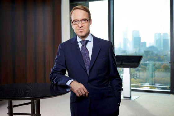 El presidente del Bundesbank, Jens Weidmann, en la sede de la entidad, en Fráncfortrn rn rn rn
