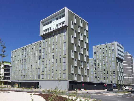 Edificio de viviendas flexibles en Zabalgana, un barrio de la ciudad de Vitoria.