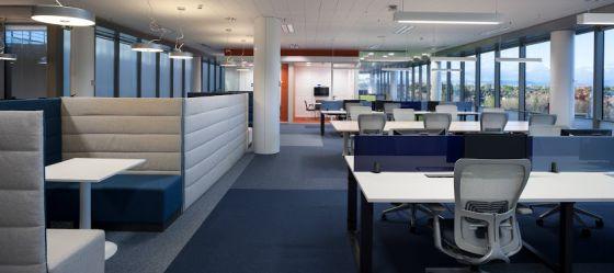 Interior de la sede de Microsoft en Pozuelo de Alarcón (Madrid).