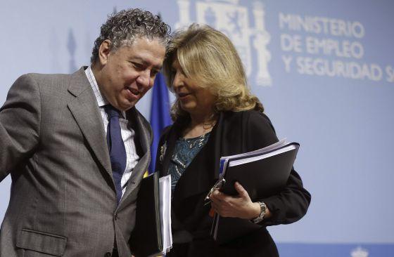 Los secretarios de Estado de Empleo y de Seguridad Social, Engracia Hidalgo y Tomás Burgos.