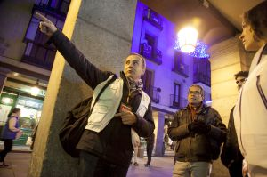 Juan Gregorio en un momento del 'tour'.