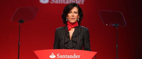 Ana Patricia Botín, en la junta general extraordinaria de accionistas tras la muerte de Emilio Botín, el pasado mes de septiembre.