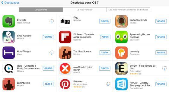 Captura de pantalla de la AppStore.