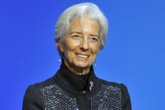 Christine Lagarde, directora gerente del FMI, este lunes en Dublín (Irlanda).rn