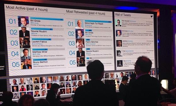 Twitter está muy presente en Davos