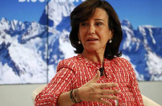 Ana Botín, presidenta del banco Santander, en Davos.