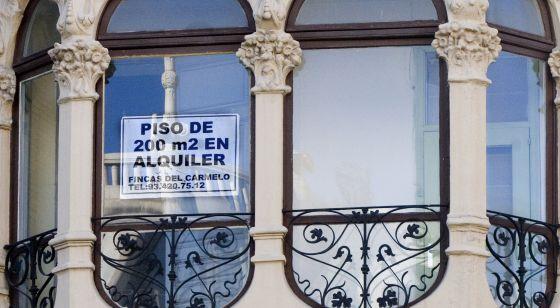 Pisos en alquiler en el barrio de Gràcia de Barcelona.