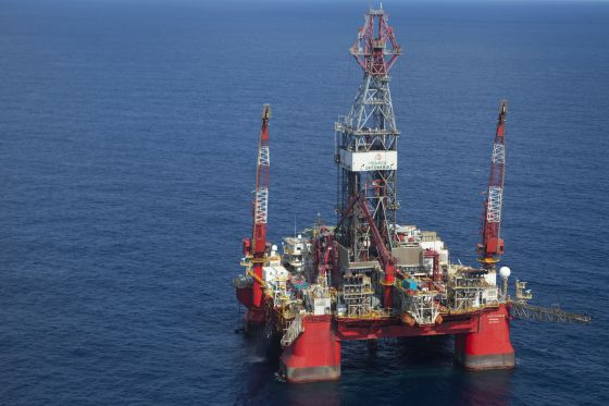Plataforma de Pemex en el Golfo de México.