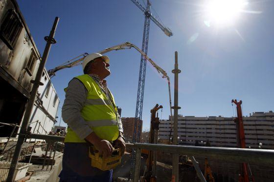 Construcción de viviendas en el PAU de Vallecas, en Madrid.