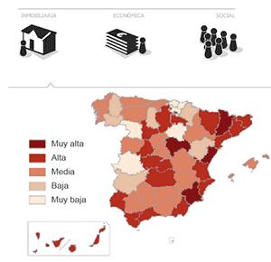 Siete años de recesión dibujan una España resistente y una perdedora