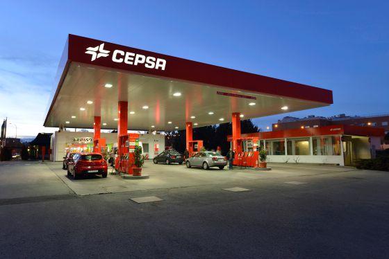 Una estación de servicio de Cepsa.