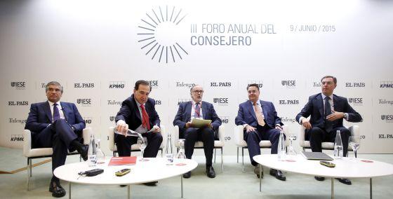 De izquierda a derecha, Francisco Reynés, Antonio Huertas, Javier Ayuso, Antonio Llardén y José Sevilla