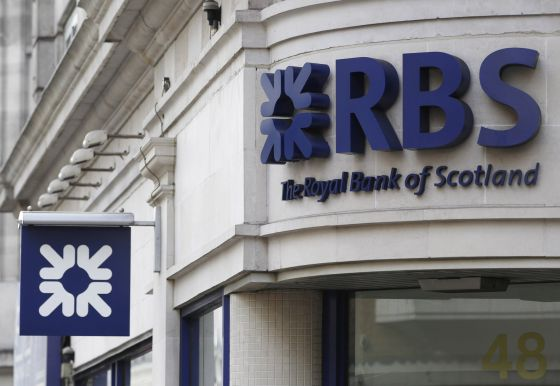 Una oficina de Royal Bank of Scotland (RBS) en Londres