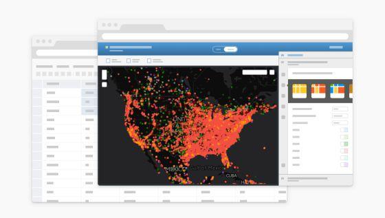 Uno de los mapas que ofrece CartoDB.