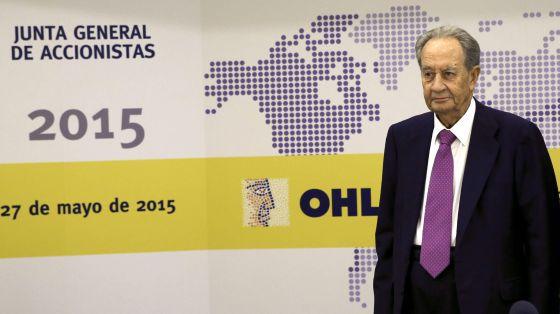 Juan Miguel Villar Mir, antes de la última junta general de accionistas de OHL