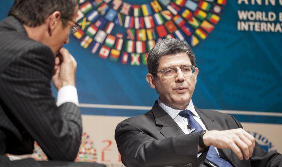 El ministro de Finanzas brasileño, Joaquim Levy, el jueves en Lima (Perú)