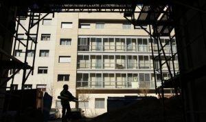 Obras de construcción de viviendas en el Ensanche de Vallecas, en Madrid.