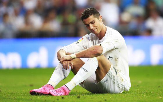 Ronaldo se lamenta tras una ocasión fallada en el partido contra el Málaga de esta temporada.