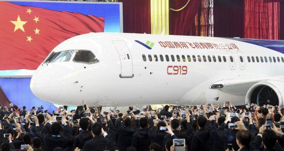 avião comercial chinês C919