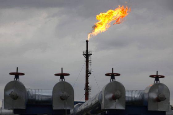 Planta de petróleo y gas en Siberia, Rusia