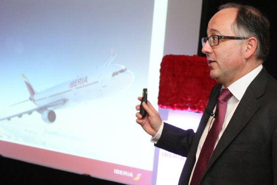 El presidente de la aerolínea española Iberia, Luis Gallego