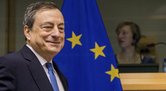 El presidente del BCE, Mario Draghi, la semana pasada en Bruselas.