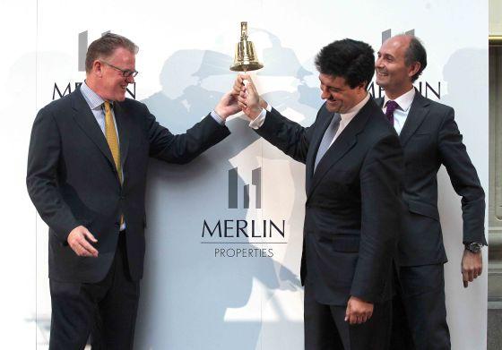 El equipo directivo de Merlin Properties en el estreno bursátil de la Socimi