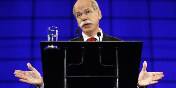 Dieter Zetsche, primer ejecutivo de Daimler, durante una junta de accionistas.