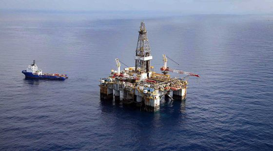 Plataforma petrolera Casablanca, ubicada frente a la costa de Tarragona.