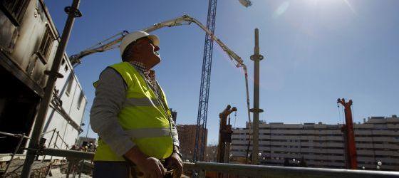 Construcción de viviendas en el PAU de Vallecas, en Madrid
