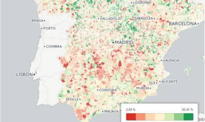 Mapa del ahorro bruto por municipio