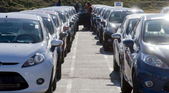 Vehículos salidos de la línea de montaje de la factoría Ford de Almussafes