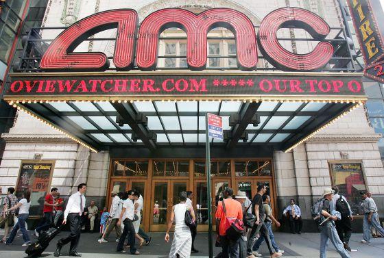 Un cine de AMC en Times Square (Nueva York)
