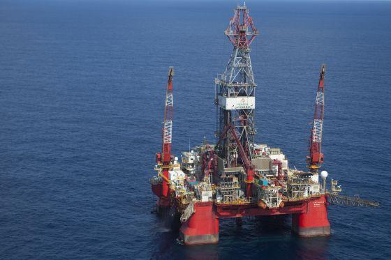 Precio del petróleo: Una plataforma de Pemex en el Golfo de México