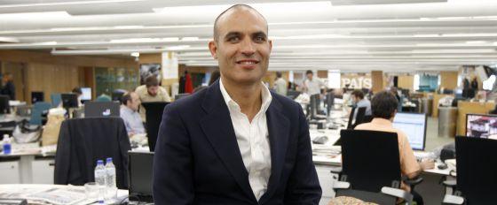 Bernardo Hernández, cofundador de Idealista, en la redacción de El País.