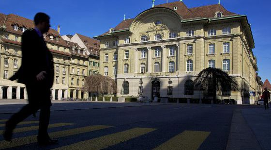 Sede del Banco Nacional de Suiza, en Berna