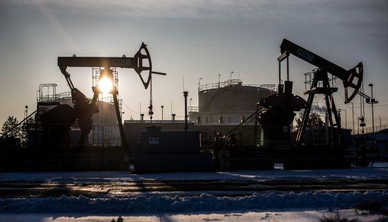 Pozo petrolero en Damborice (República Checa).