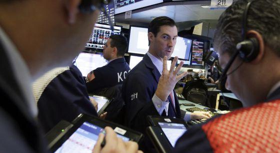 Un 'broker' en la Bolsa de Nueva York