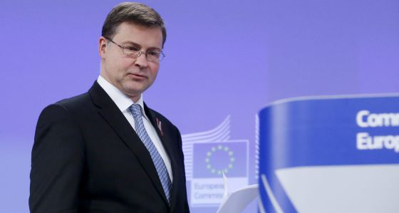El vicepresidente de la Comisión, Valdis Dombrovskis.