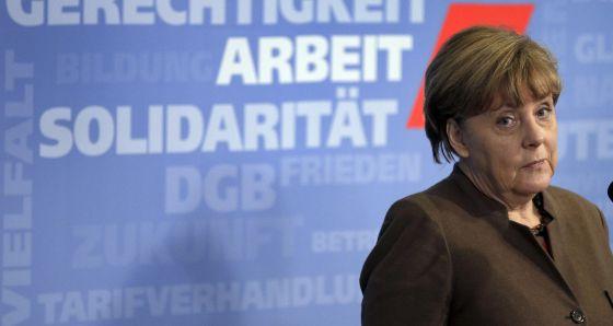 La canciller alemana, Angela Merkel, en Berlín