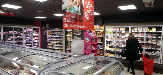 Supermercado Eroski City en Madrid.