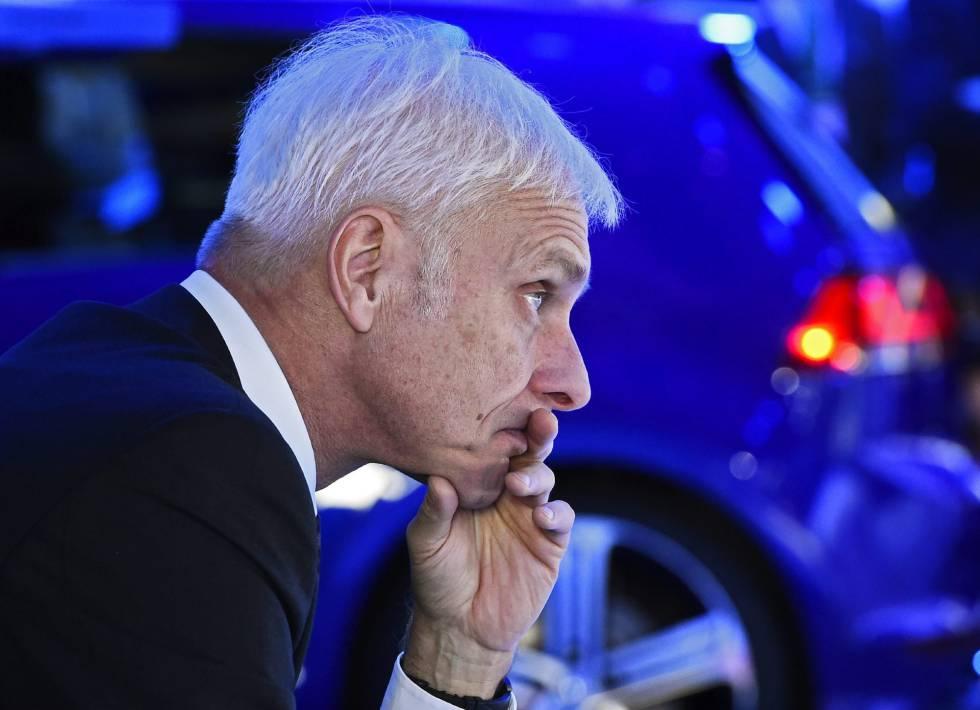 El presidente de Volkswagen, Matthias Müller, la semana pasada en el Salón del Automóvil de Detroit.