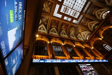 Interior de la Bolsa de Madrid. EFESergio Barrenechea