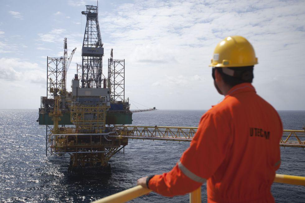 Una plataforma petrolífera en México.