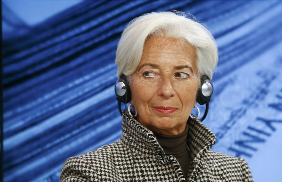 La directora gerente del FMI, Christine Lagarde, durante una sesión en Davos sobre el futuro de China